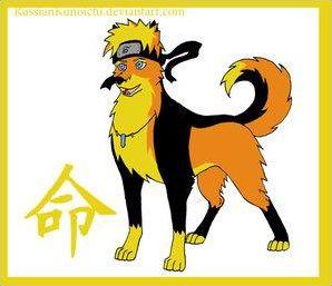 Les personnages de Naruto transformé en animaux