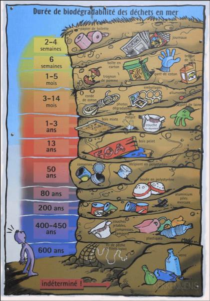 Une canette pollue pendant combien d'années ?