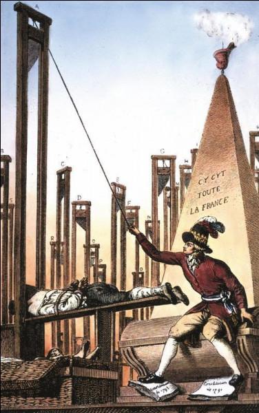 Comment s'appelle le régime d'exception mis en place en France qui visait à supprimer des libertés et à utiliser la violence afin d'éliminer les « ennemis de la République » ?