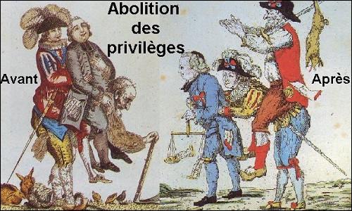 Dans la nuit du 4 au 5 août 1789, les privilèges sont abolis. Qui possédait des privilèges dans la société de l'Ancien Régime ?