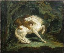 """Qui a peint """"Cheval attaqué par un lion"""" ?"""