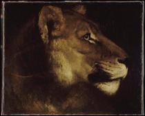 """Qui a peint """"La tête de lion"""" ?"""
