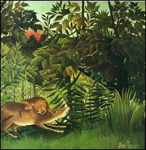 """Qui a peint """"Un lion dévorant sa proie"""" ?"""