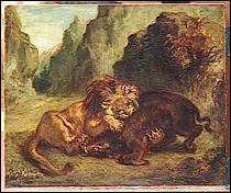 """Qui a peint """"Lion et sanglier"""" ?"""