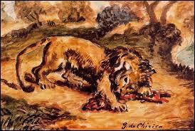 """Qui a peint """"Lion dévorant un morceau de viande"""" ?"""