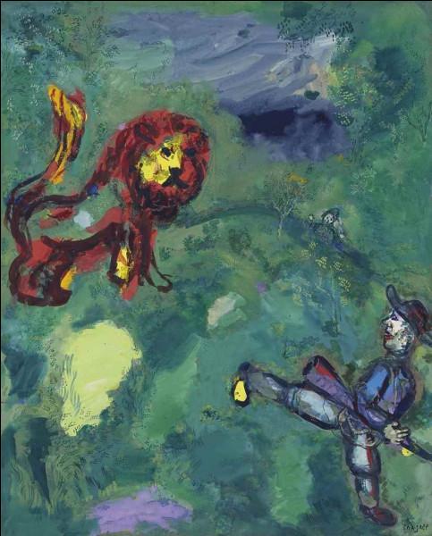 """Qui a peint """"Le lion et le chasseur"""" ?"""