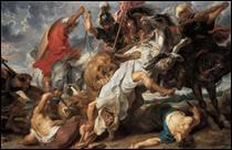 """Qui a peint """"La chasse aux lions"""" ?"""