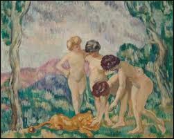 """Qui a peint """"Jeunes filles jouant avec un lionceau"""" ?"""