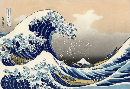 Quel est le titre de cette estampe de Hokusai ?