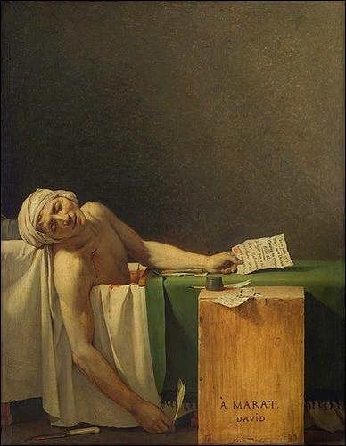 """Qui a peint """"La Mort de Marat"""" ?"""