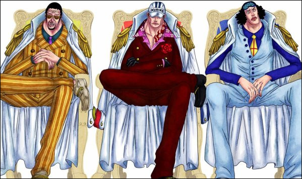 Quel est le premier amiral qu'on voit dans le manga ?