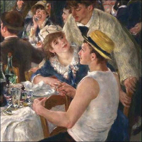 """Le canotier est parfois un chapeau ! Quel peintre impressionniste est l'auteur du """"Déjeuner des Canotiers"""" ?"""