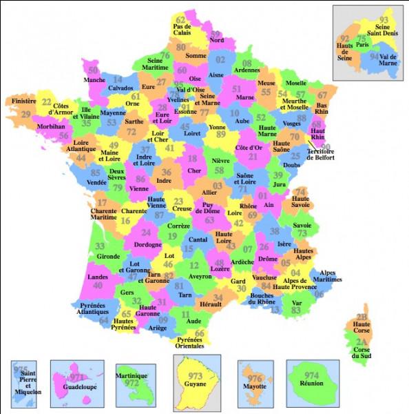 Combien y a-t-il de départements français ?