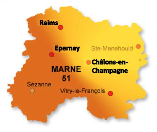 Quelle est la préfecture du département de la Marne ?