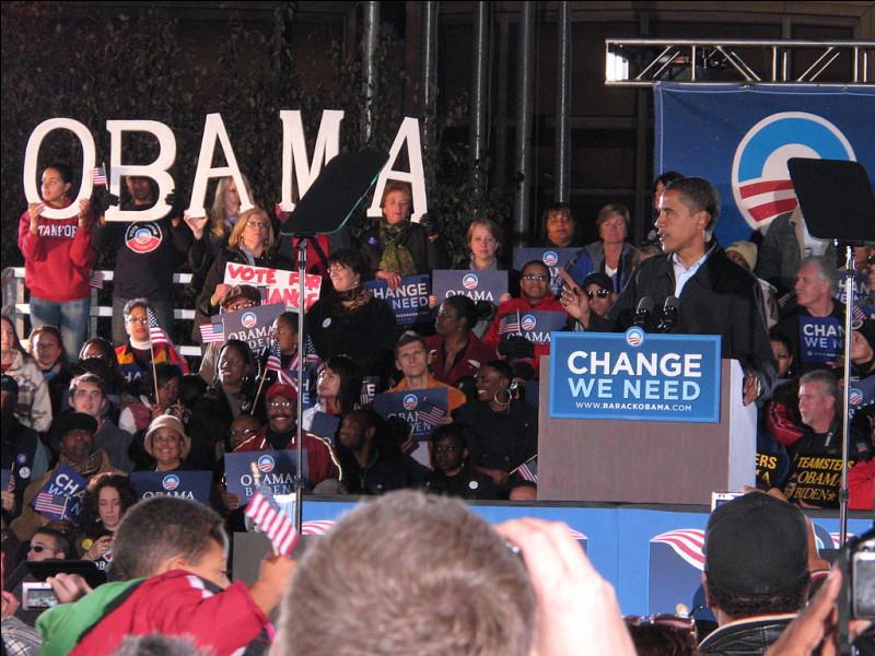 L'élection présidentielle américaine de 2008 voit la victoire de Barack Obama. Le taux de participation atteint son plus haut niveau depuis 1968, pour s'élever à...