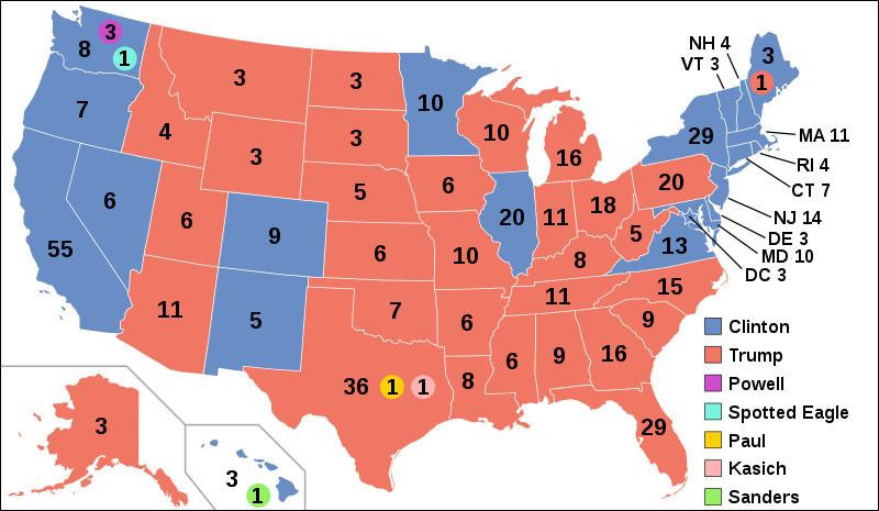 Trump remporte l'élection présidentielle. Qu'est-ce qui est exact ?