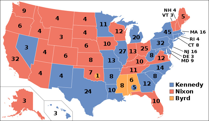 1960 : John Fitzgerald Kennedy l'emporte sur Richard Nixon. Quelle est la nouveauté de cette élection ?