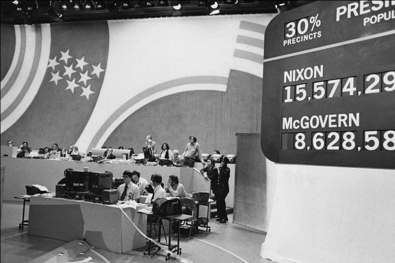 La réélection de Richard Nixon en 1972 est entachée par...