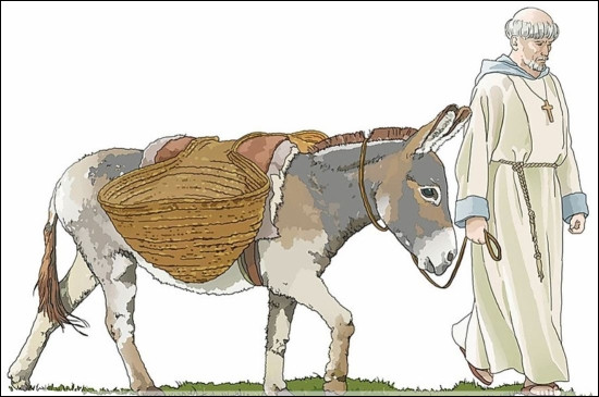Quel saint est passé à Bibracte et y a laissé l'empreinte du pas de son âne ?