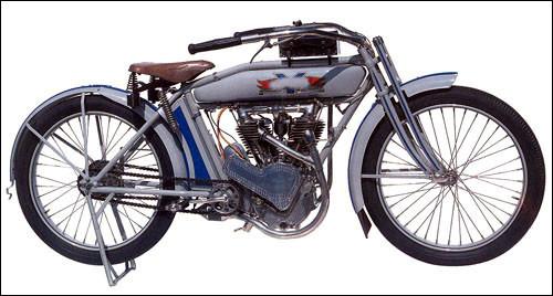 De quelle marque est cette moto de 1914 ?