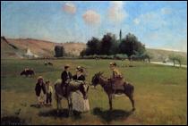 """Qui a peint """"Balade à dos d'âne à La Roche-Guyon"""" ?"""