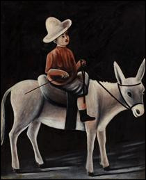 """Qui a peint """"Un garçon sur un âne"""" ?"""