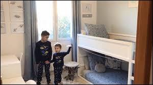 Sur quel thème a-t-elle fait la chambre de ses 2 premiers garçons ? (2020)
