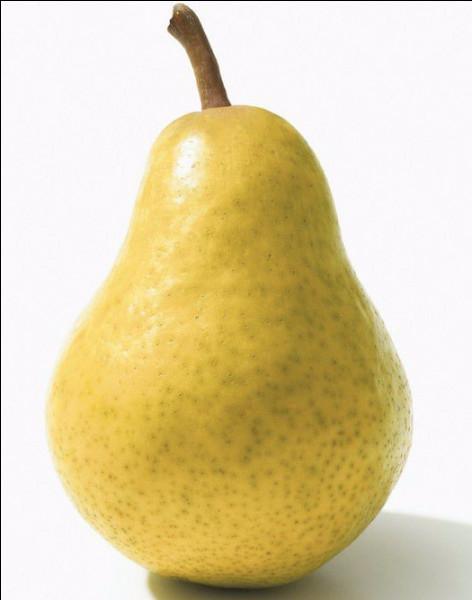 Quelle est cette variété de poire, la plus cultivée au monde dont la chair est juteuse et sucrée avec une pointe d'acidité ?
