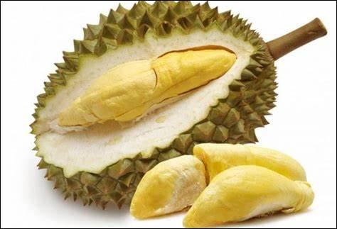 Quel est ce fruit tropical ovoïde avec une carapace à grosses épines qui renferme une chair au goût particulier qui dégage une forte odeur ?