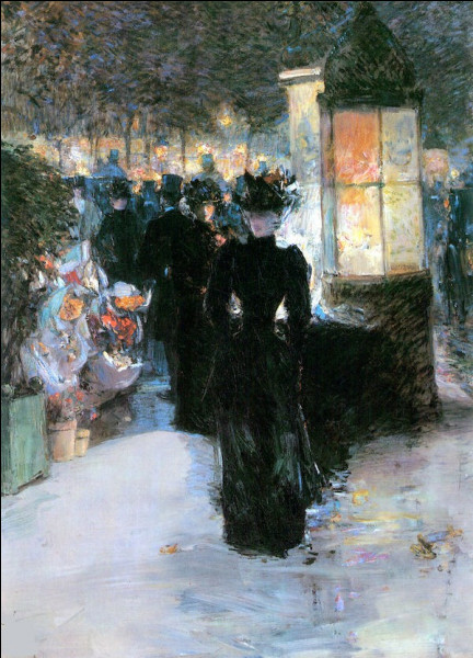 """Son tableau s'intitule """"Paris nocturne"""" :"""
