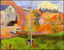 """Qui a peint """"Un paysage breton. Moulin de David"""" ?"""