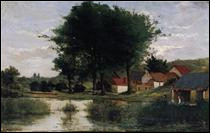 """Qui a peint """"Paysage d'automne (Ferme et étang)"""" ?"""