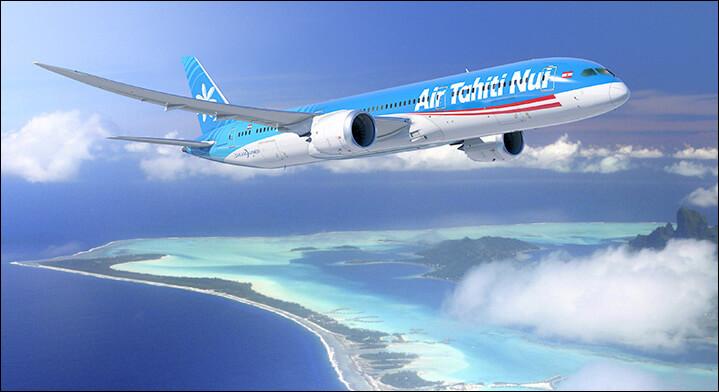Le vol Tahiti-Paris est fait en...