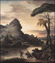 """Qui a peint """"Paysage héroïque avec des pêcheurs"""" ?"""