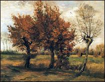 """Qui a peint """"Paysage d'automne avec quatre arbres"""" ?"""