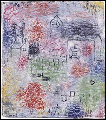 """Qui a peint """"Petit paysage avec l'église du village"""" ?"""