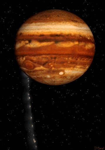 Cette comète s'est disloquée en passant près de Jupiter en 1994, avant de plonger dans l'atmosphère de la géante.