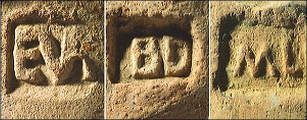 Parmi les timbres d'amphores (marque du potier) retrouvés à Bibracte, on trouve : (2 réponses exactes)