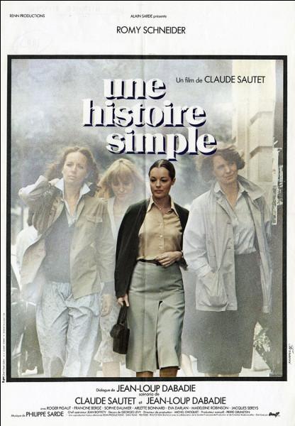 """Lequel de ces acteurs jouait avec Romy Schneider dans le film """"Une Histoire simple"""" ?"""