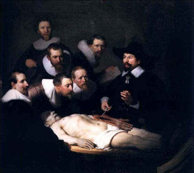 C'est également l'époque des amphithéâtres de dissection, ou encore théâtres anatomiques, qui rassemblaient alors médecins et étudiants, mais également simples curieux venus assister à une dissection publique. Qui est l'auteur de ce tableau « La Leçon d'anatomie du docteur Tulp » ?