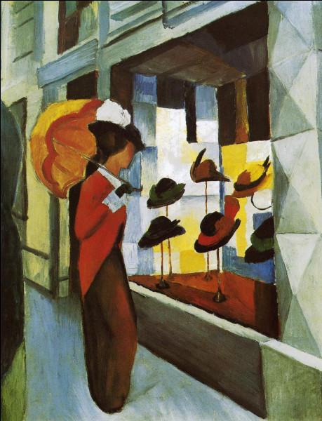 """Quel expressionniste allemand a réalisé le tableau """"Devant le magasin de chapeaux"""" ?"""