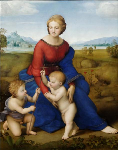 """Quel peintre italien de la Renaissance est l'auteur du tableau """"La Madone de la prairie"""" ?"""
