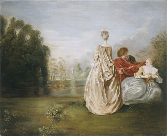 """Quel peintre français du XVIIIe a réalisé """"Les Deux cousines"""" ?"""