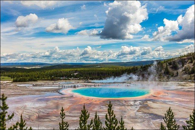 Le parc national de Yellowstone est protégé par l'UNESCO :