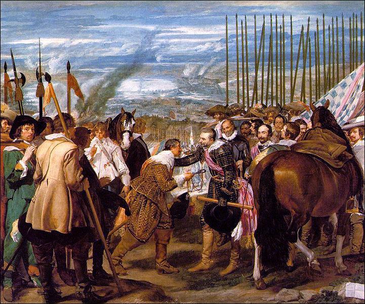 Prado : Quel évènement ce tableau de Velazquéz retrace-t-il ?