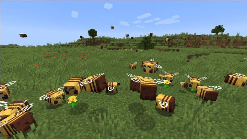 Il y a des abeilles.