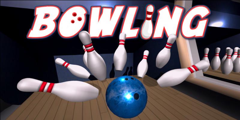 Combien de quilles y a-t-il sur la piste de bowling ?