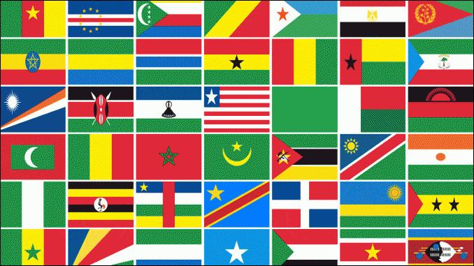 Combien est-ce qu'il y a de pays en Afrique ?