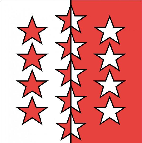 Qu'est-ce que les 13 étoiles sur le drapeau du Valais représentent