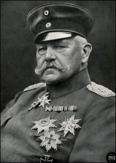 Qui est ce Paul, général, puis maréchal du Reich, chef du grand état-major de l'armée allemande de 1916 à 1918, mort en 1934 ?